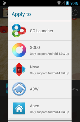 Ausplclousling android theme launcher menu