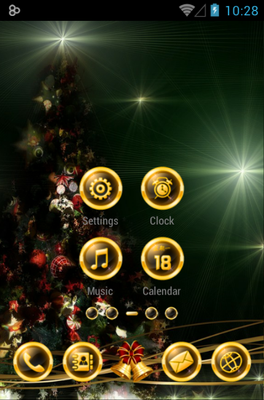 BlackXmas android theme home screen