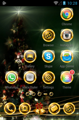BlackXmas android theme application menu