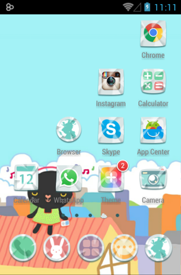Balloonfree android theme application menu