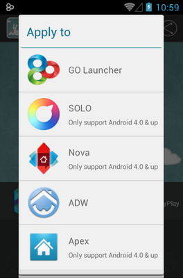 Balloonfree android theme launcher menu