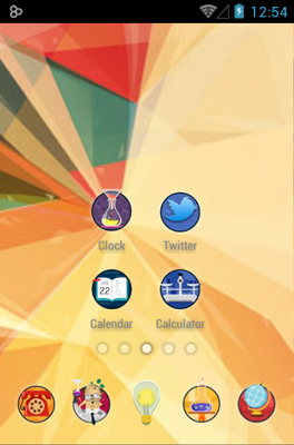 Crazy Scientist android theme home screen