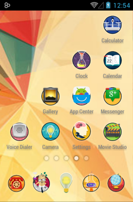 Crazy Scientist android theme application menu