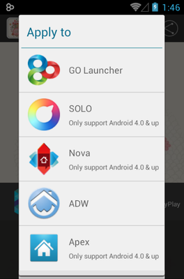 Around The World android theme launcher menu