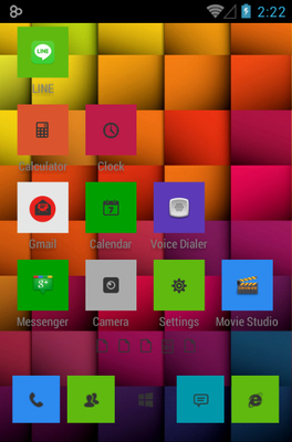 Windows 8 android theme home screen