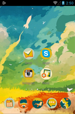 Boy android theme home screen