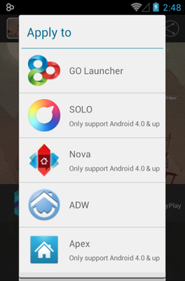 Boy android theme launcher menu
