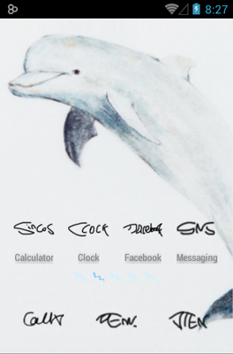 Blue Fish android theme
