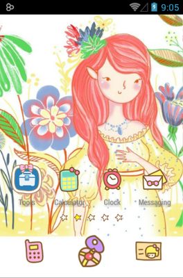 Bora Girl android theme home screen