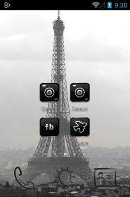 Paris android theme home screen