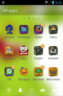 Color Young android theme application menu