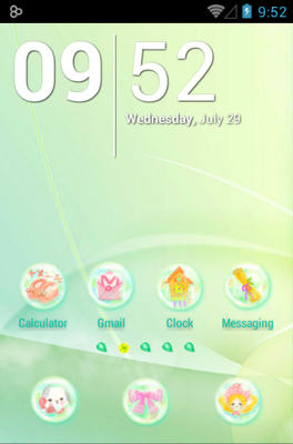 android theme 'Daisy in Rainbow'