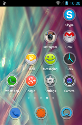 Kinux android theme application menu