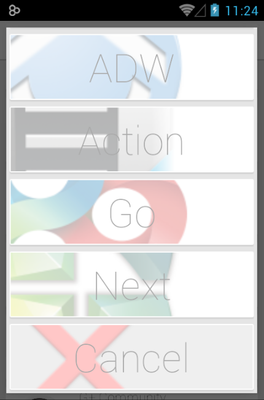 Rooundy android theme launcher menu