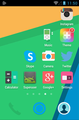 Sunshine android theme application menu