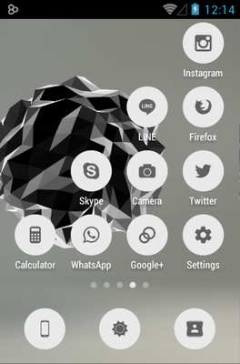 FlatCons android theme application menu