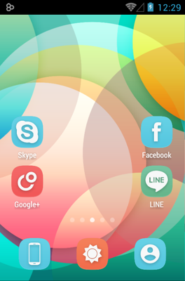 Ainokea android theme home screen