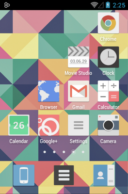 Jive android theme application menu