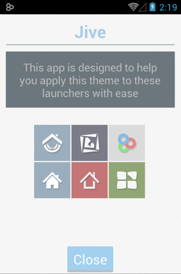 Jive android theme launcher menu