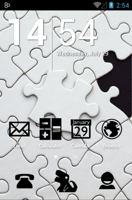 android theme 'Stamped Black'