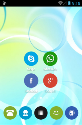 Rounded UP android theme home screen
