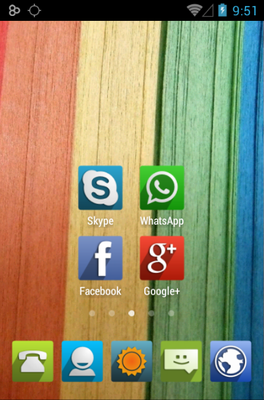 UP android theme home screen