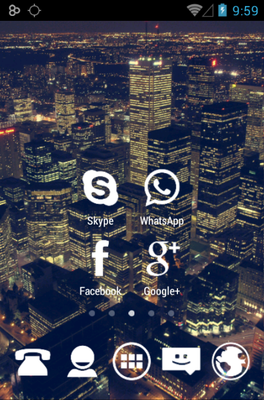 Stamped White android theme home screen