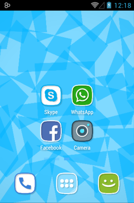 Squircle android theme home screen