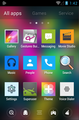 255 Square Lite android theme application menu