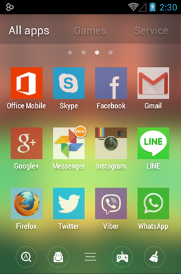 192 Square Lite android theme application menu