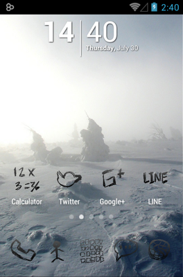 android theme 'Zeon Black'