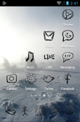 Zeon Black android theme application menu
