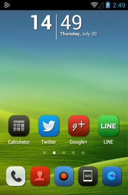 android theme 'Iconia'
