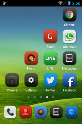 Iconia android theme home screen