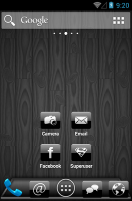 android theme 'Black Gloss'