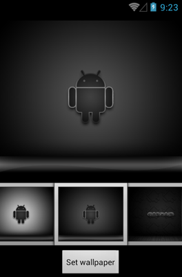 Black Gloss android theme wallpaper
