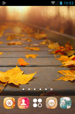 Gold Autumn android theme wallpaper