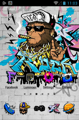 Rock Graffiti android theme