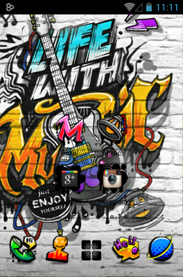 Music Life android theme home screen