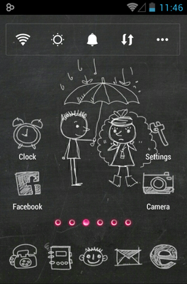 android theme 'Blackboard'