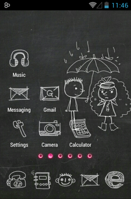 Blackboard android theme application menu