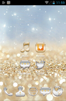 android theme 'Gold & Silver'