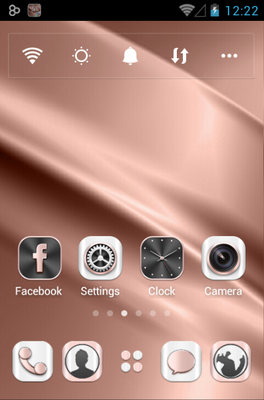 Rosegold android theme