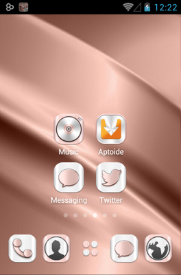 Rosegold android theme home screen