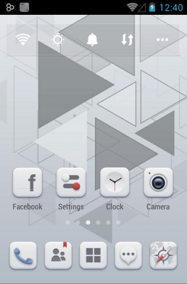 Pale android theme home screen