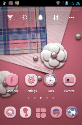 Miss COCO android theme home screen
