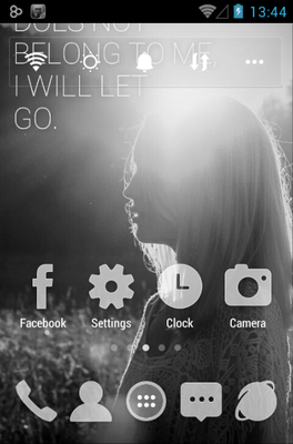 FADED MEMORIES  android theme home screen