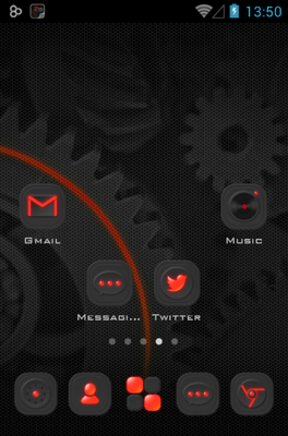 Dark Energy android theme home screen