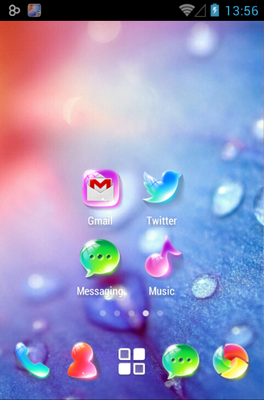 Crystal android theme home screen