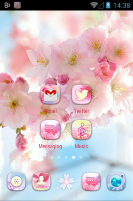 Aroma android theme home screen
